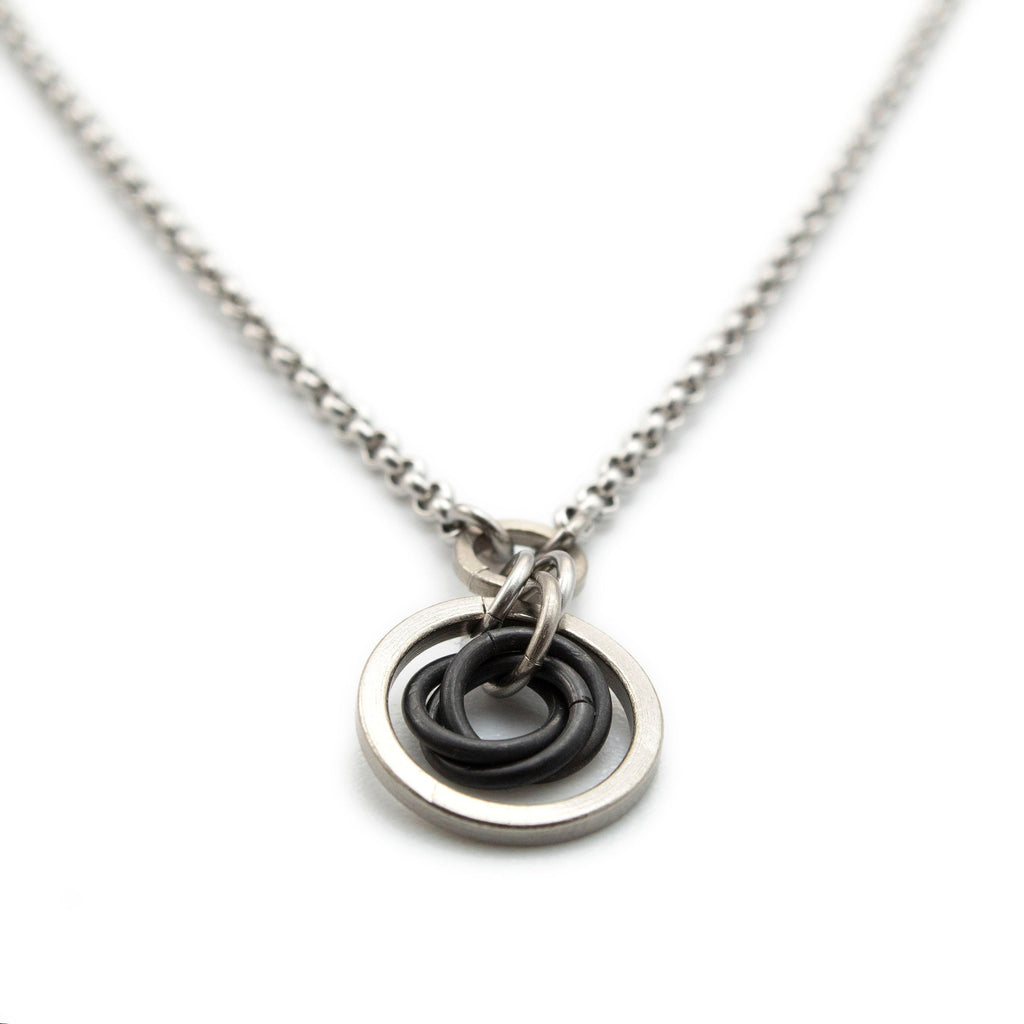 Chelsea Silver Titanium and Niobium Necklace