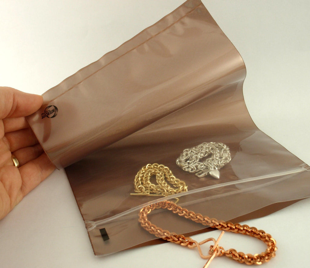 Deluxe Anti-Tarnish Bags - Color Indicator - Made in the USA -  You Choose Size - Perfect for Sterling, Copper, Brass and Bronze