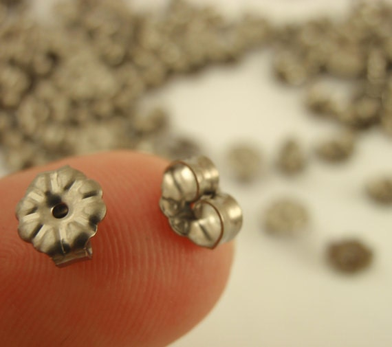 New 100% Titanium Post Earrings Kit - Makes 3 Pairs with 5mm or 10mm Pad - Hypoallergenic - Made in the USA - Resin, Nuts and Posts