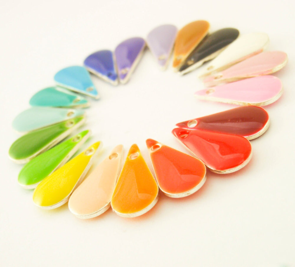 25 - 20mm x 14mm Colorful Teardrop Drops - 100% Guarantee
