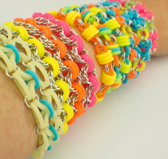 Neon Rubber Jump Rings YOU Pick Color and Size