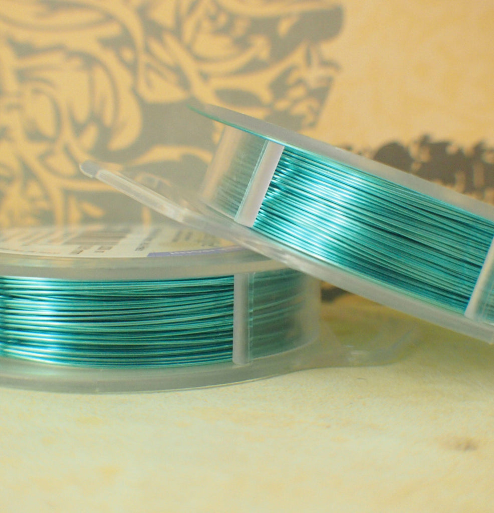 Ice Blue Artistic Wire - Permanently Colored - You Pick Gauge 18, 20, 22, 24, 26, 28 – 100% Guarantee