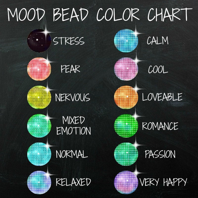 5 Mood Beads - 5 Colorful Choices with Thermo - Sensitive Liquid Crystal - 100% Guarantee Mix and Match