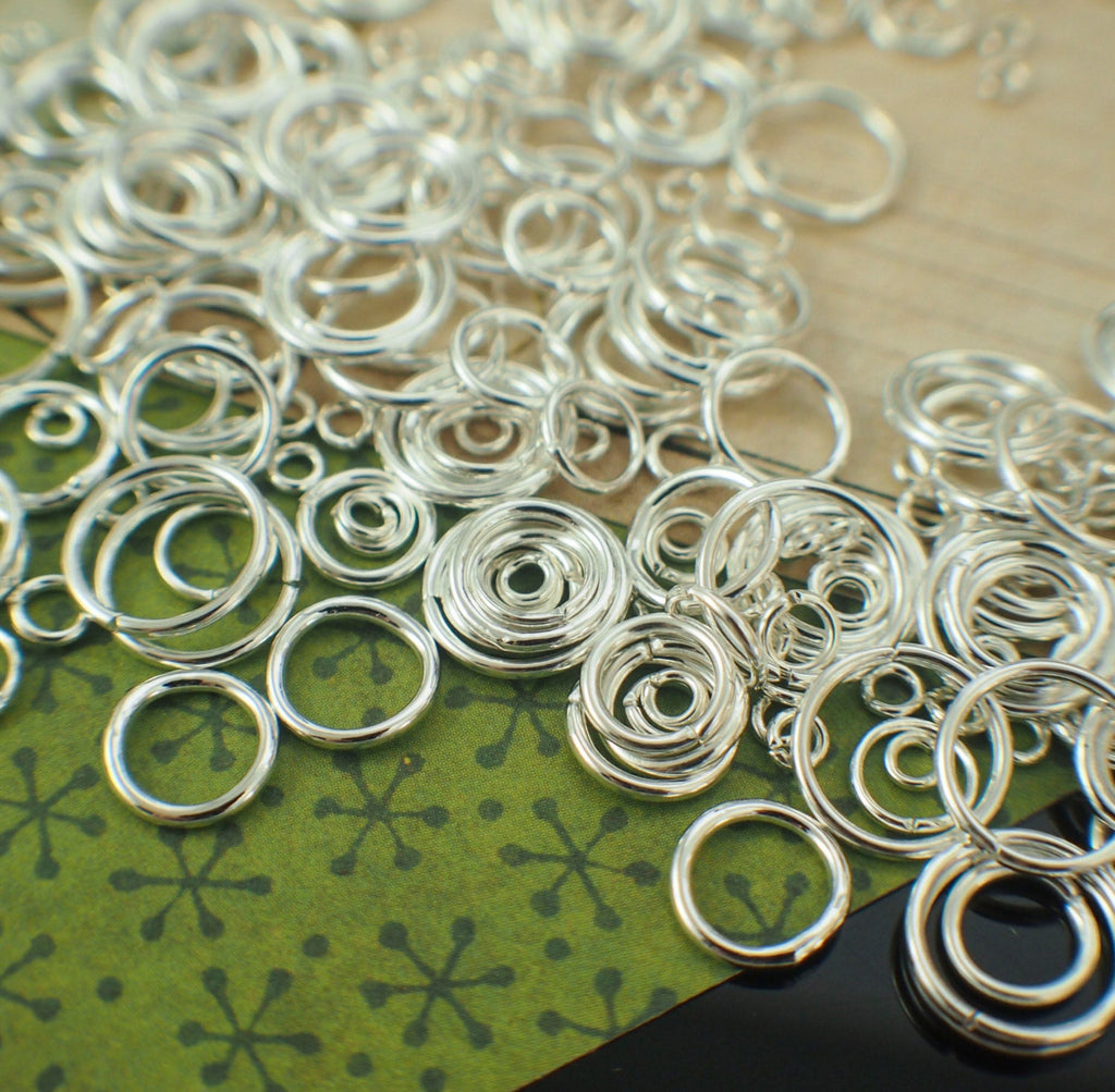 100 Silver Plated Jump Rings - 22, 20, 18, 16 Gauge - Best Commercially Made - 100% Guarantee