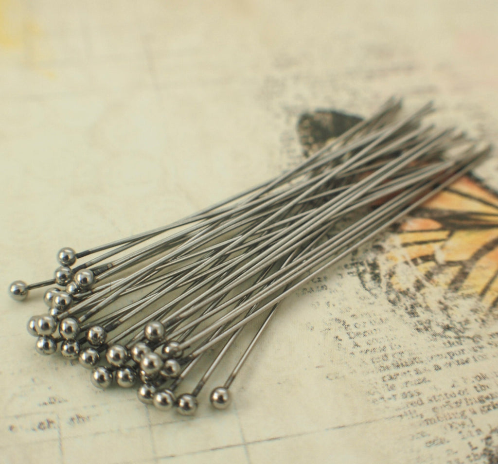 20 Stunning 2mm Ball Head Pins Stainless Steel - 24 or 22 gauge - You Pick Length - Straight and Consistent - 100% Guarantee