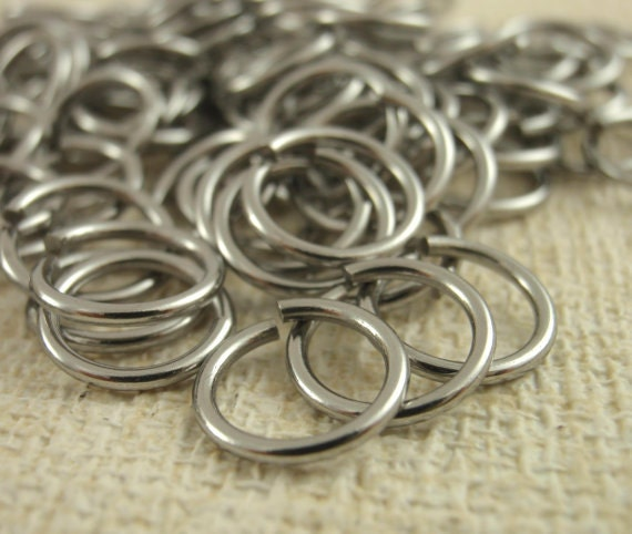 100 Nickel Free Stainless Steel Jump Rings - Your Choice of Gauge 12, 14, 16, 18, 20 and Diameter