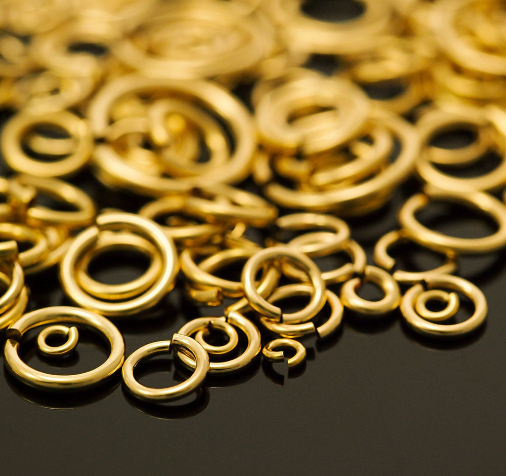 50 14kt Gold Filled Jump Rings - You Pick Gauge and Diameter Handmade
