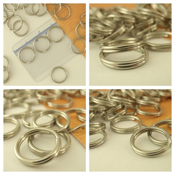 Stainless Steel Split Rings - You Pick Size - 5mm, 6mm, 6.5mm,7.5mm, 8mm, 12mm, 13mm, 15mm 20mm, 24mm, 25mm, 30mm, 32mm, 40mm