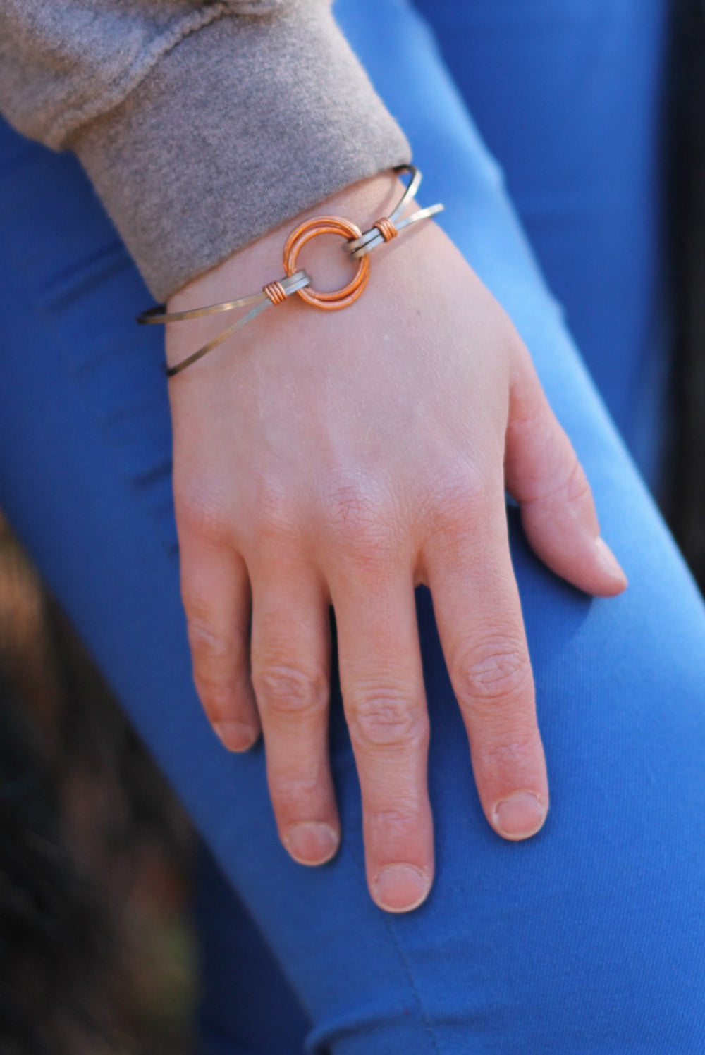 Stainless Steel and Copper Focal Bangle Kit