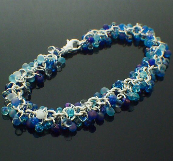 Caribbean Fringe Bead Mix - Blues, Whites, and Clears - Salty and Breezy - 100% Guarantee