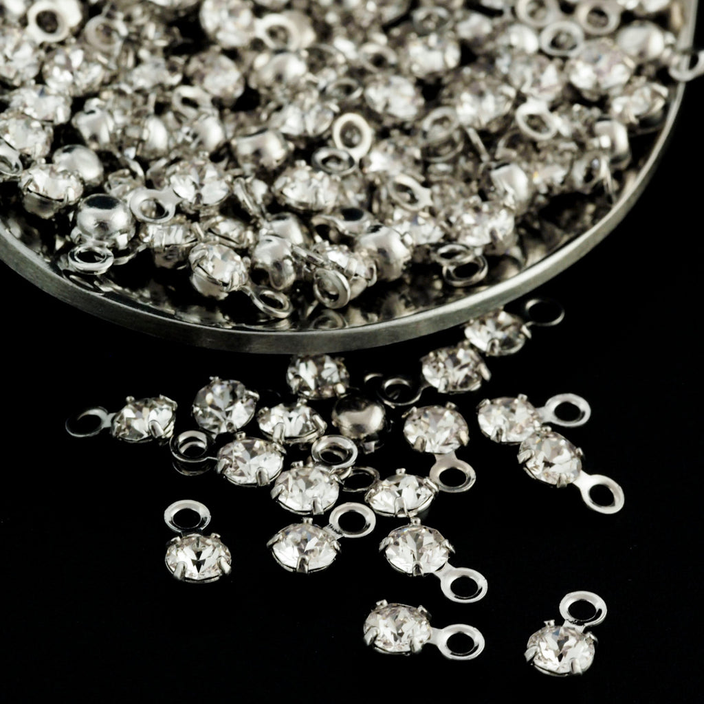 10 - 3mm and 6mm Silver or Gold Plated Crystal Swarovski Drops - 100% Guarantee