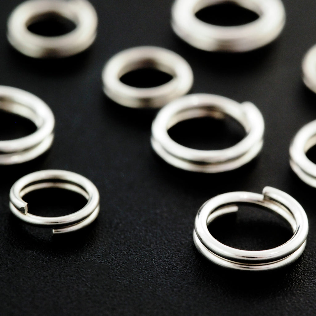 4 Sterling Silver Split Rings - 2 Size to Choose From - Made in the USA - 100% Guarantee