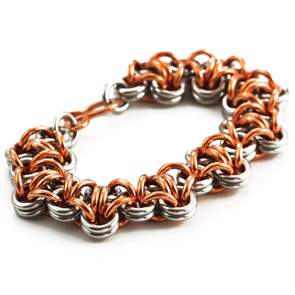 Epic Turtleback Stainless Steel and Copper Chainmaille Bracelet Kit