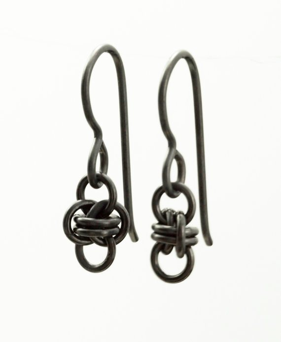 Kit - Earrings - Niobium Little Twists Earrings - Short Petite Chainmaille Style - Kit Or Ready Made