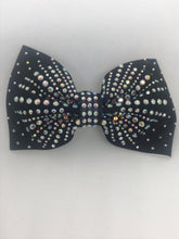 Load image into Gallery viewer, Sparkle Bow Bobble - Jessica Black/Mint
