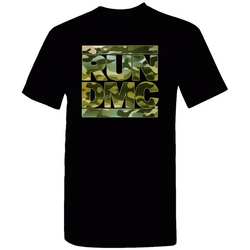 RUN DMC Green Camo Logo Tee