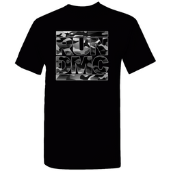 RUN DMC Black Grey Camo Logo Tee