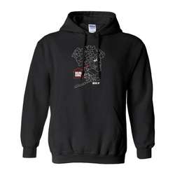 RUN DMC Queens NY Map Hoodie