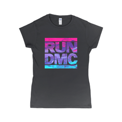 Acrylic RUN DMC Logo Women's Tee