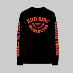 Black Long Sleeve Tee - Orange Edition