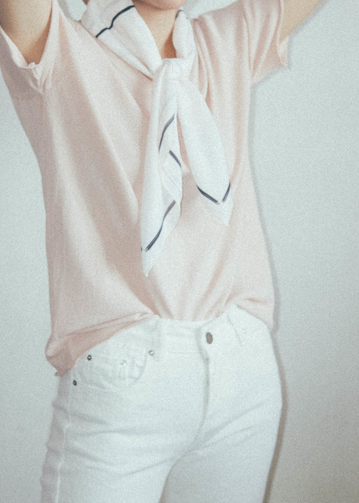 V-necked ice sweater in pink
