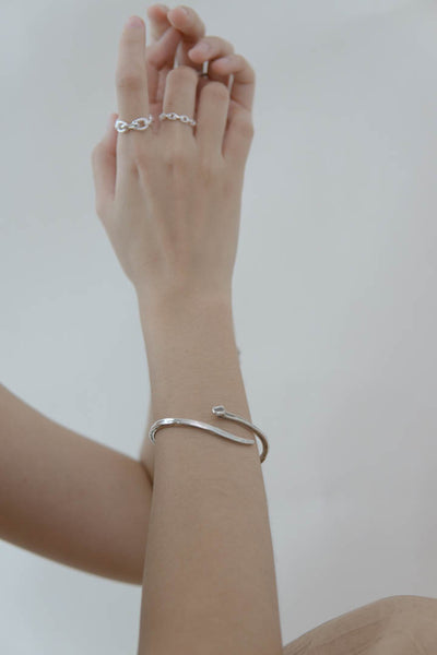 Simple craft open bracelet