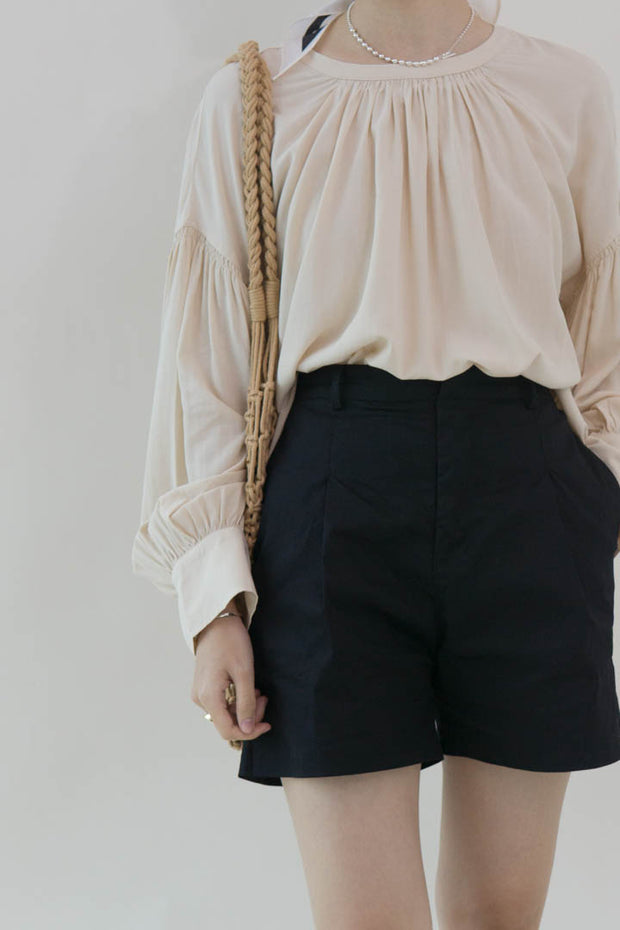 Tencel Puff Sleeve Top