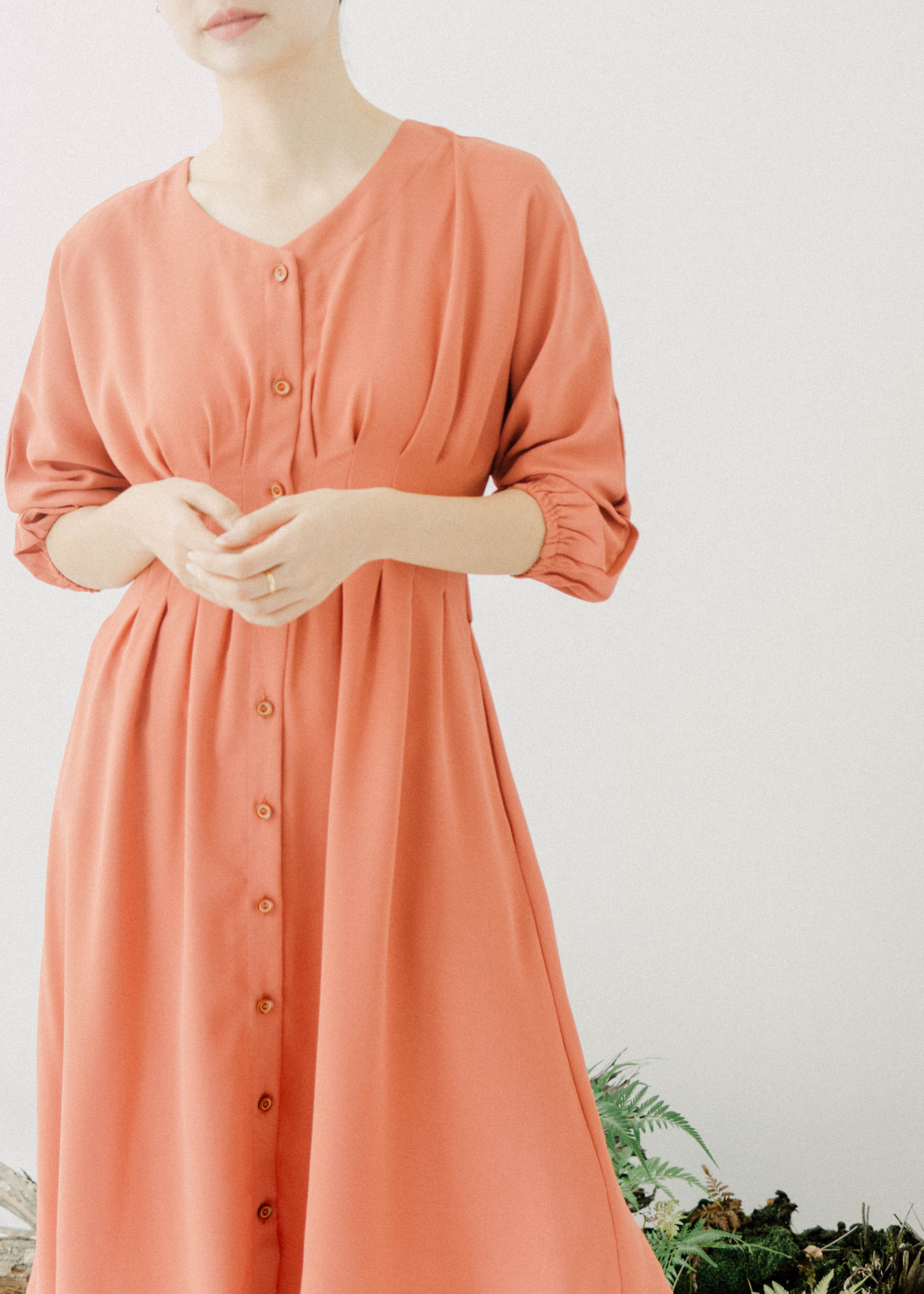 Loose casual dress watermelon red