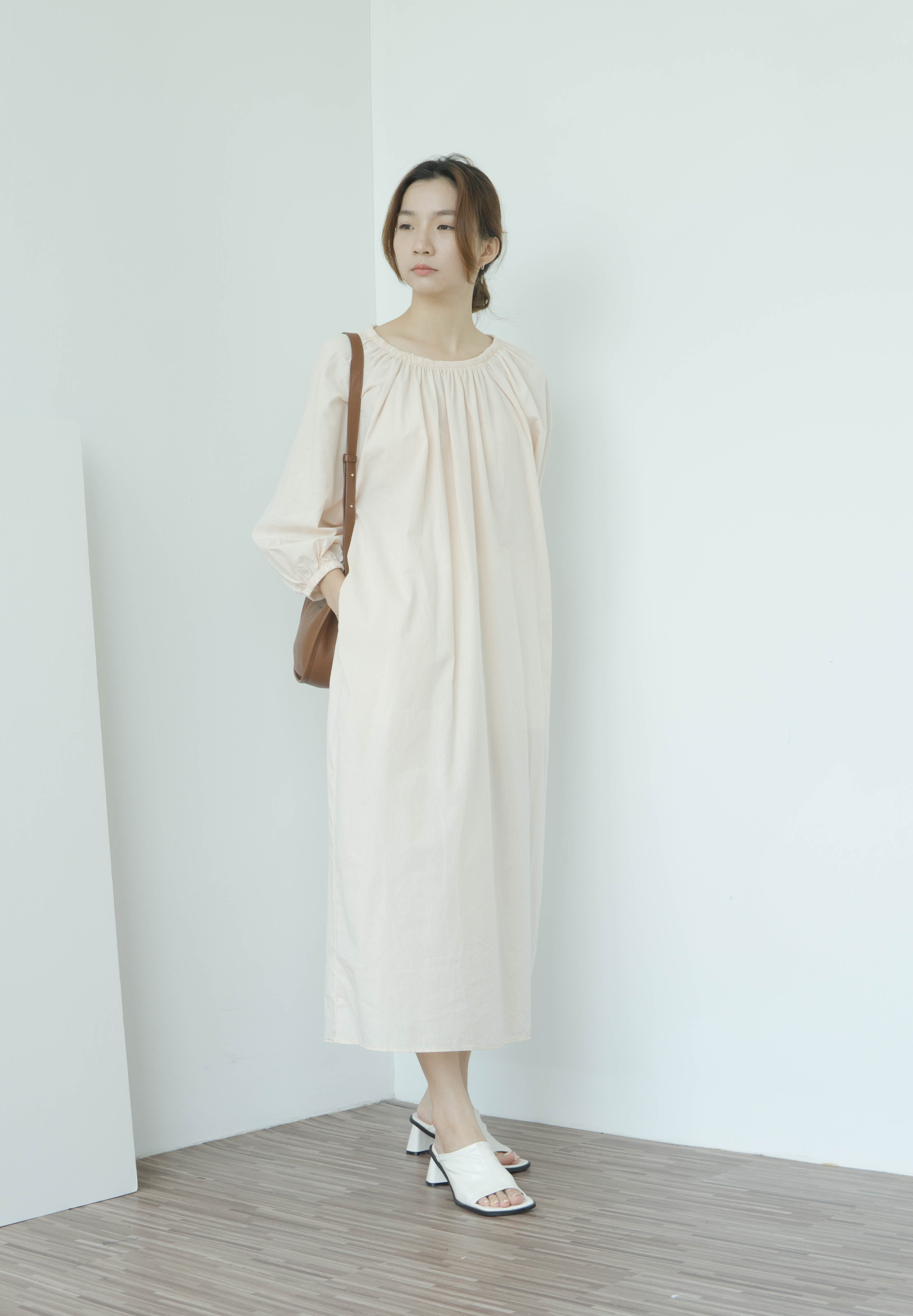 Round neck loose and thin lazy dress