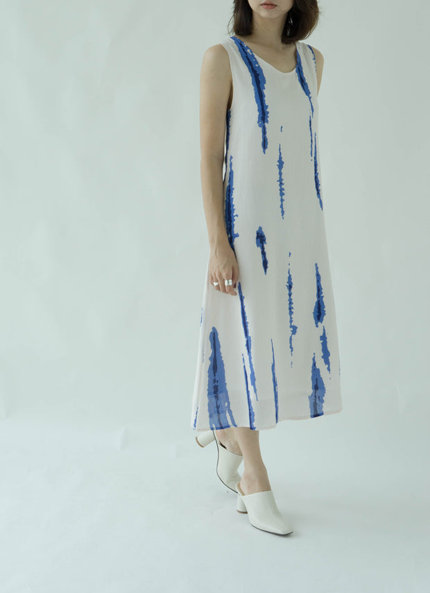 Tie-dye print tank top dress