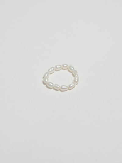 Ἀφροδίτη Baroque mini pearl ring(3mm)