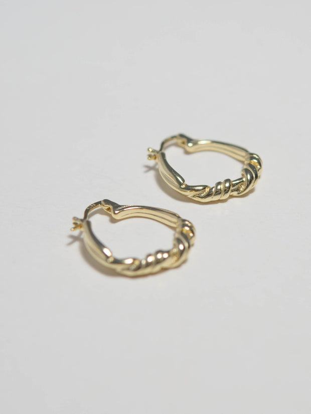 French style knotted earrings