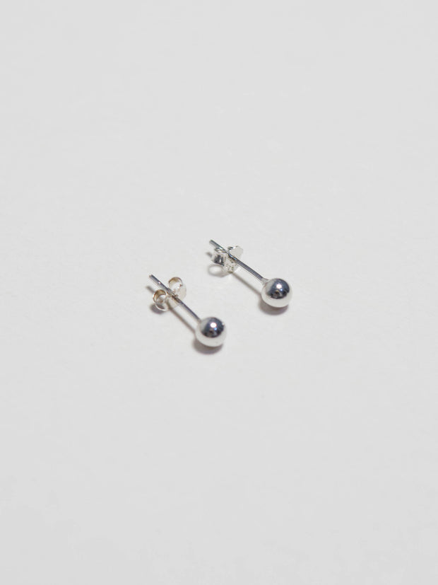 Silver Bean Earrings