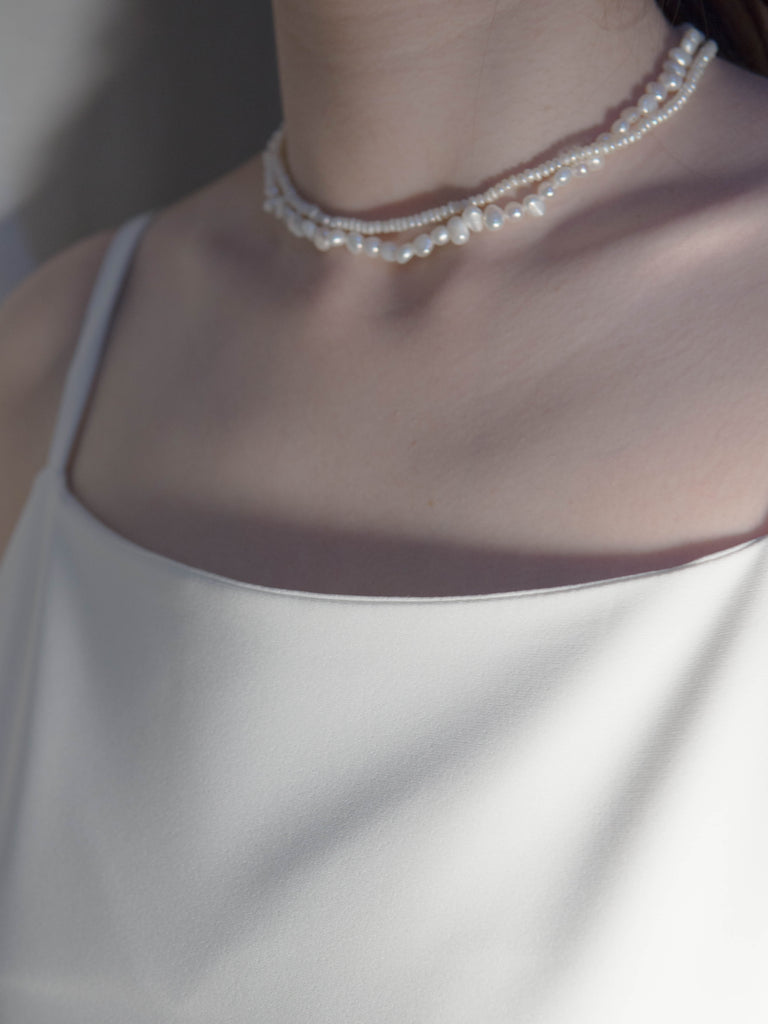Ἀφροδίτη Baroque mini pearl necklace
