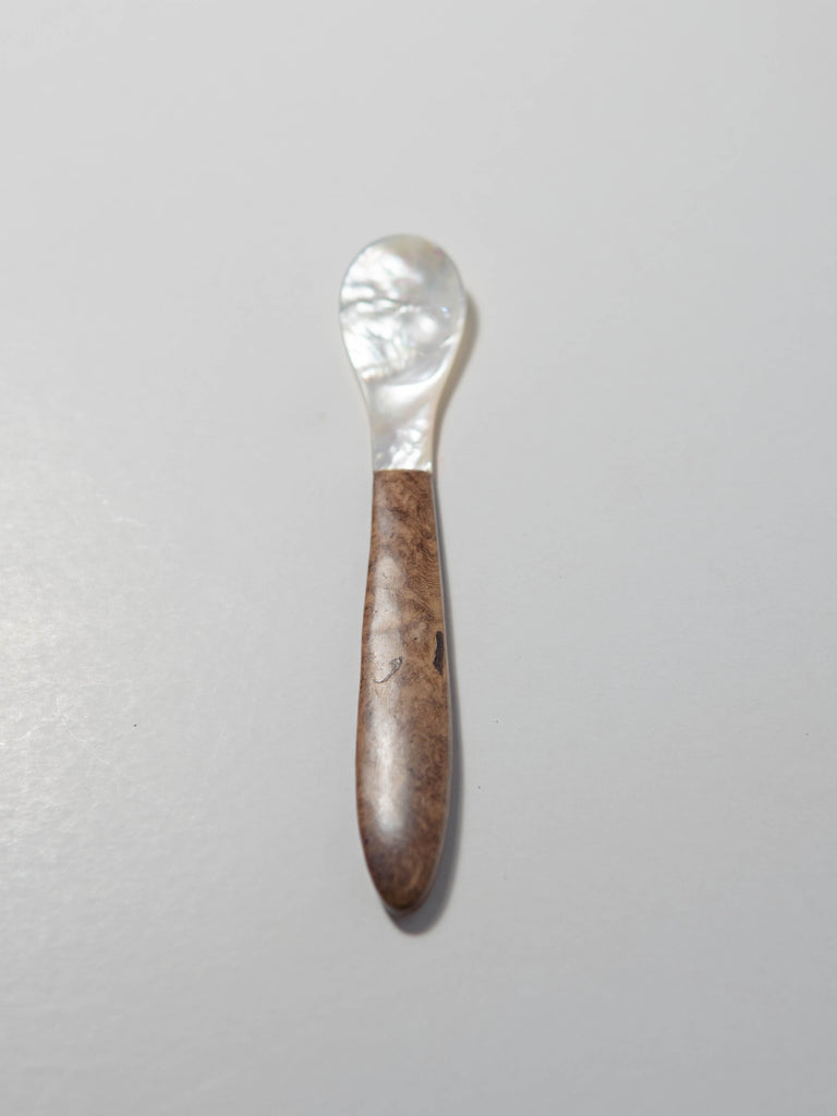 Shell spoon + wooden