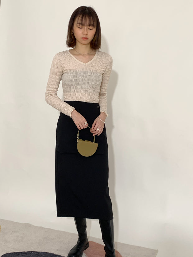 Stitch high-waisted skirts in classic black