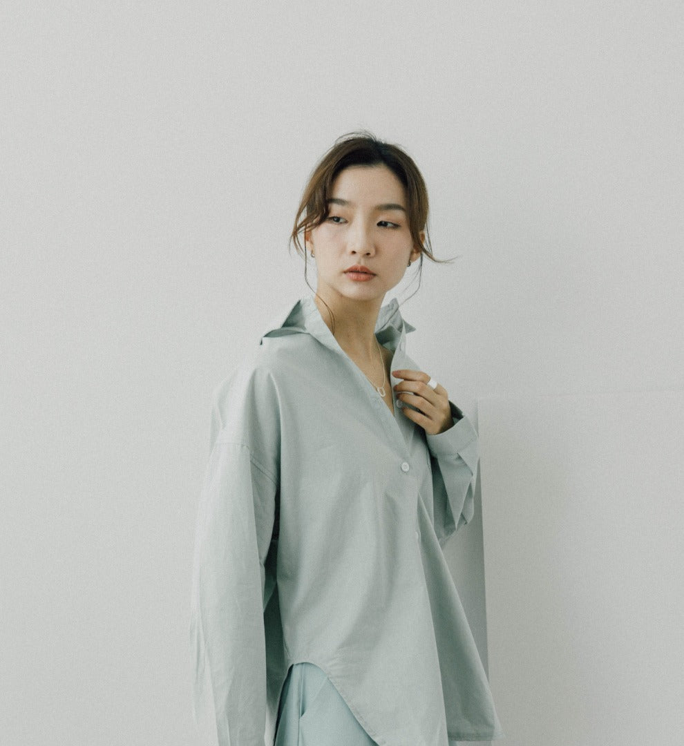 Loose shirt in green