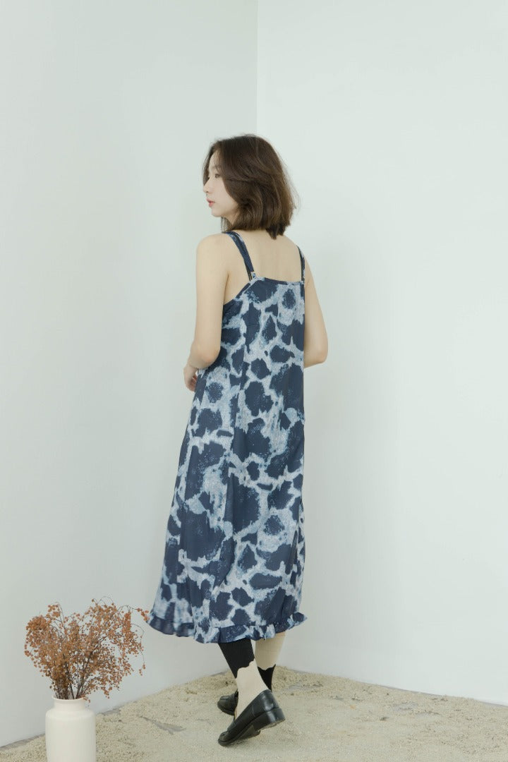 Tie-dye French dress