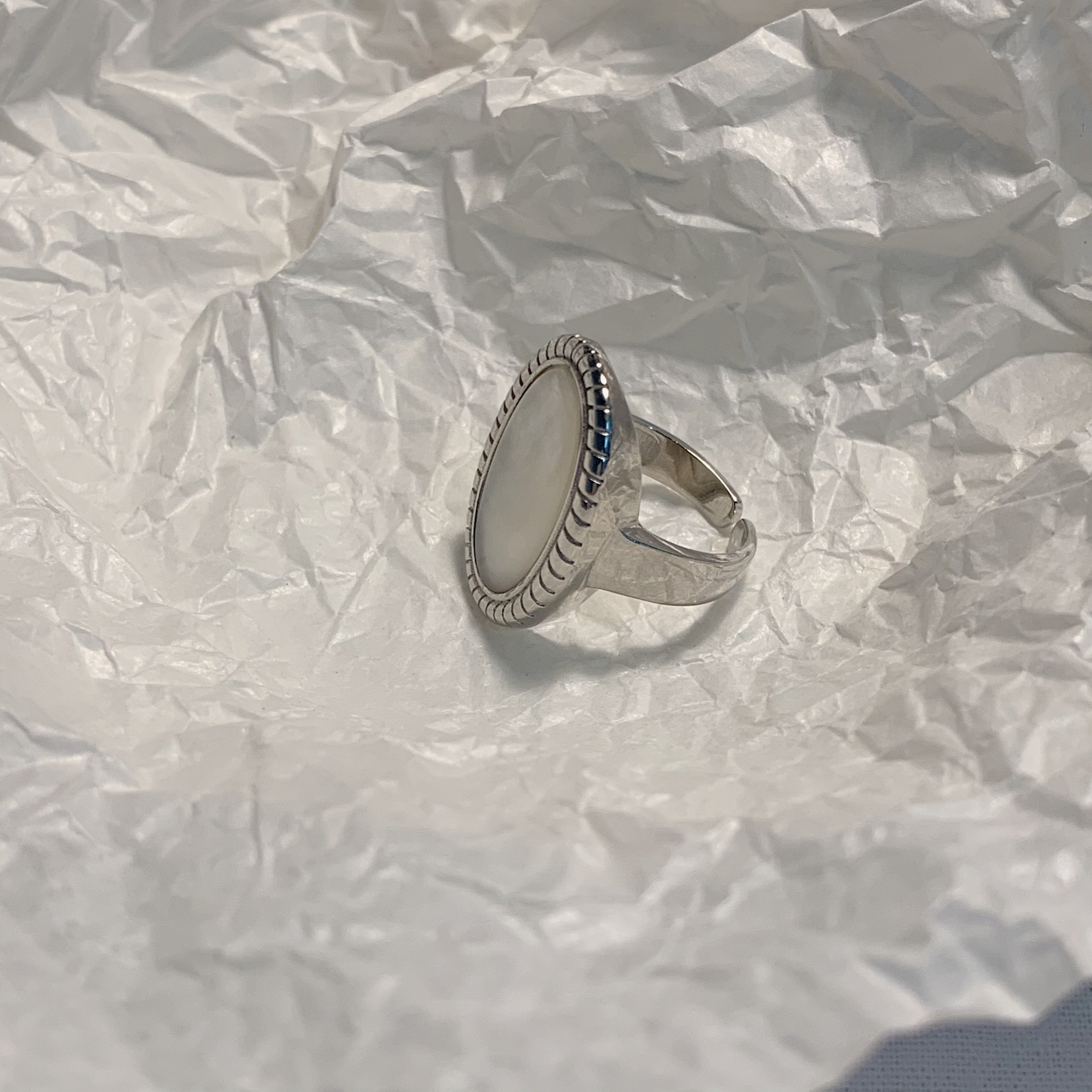 Shell Ring in Sterling Silver