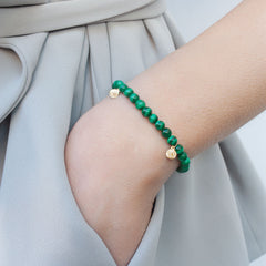 The Alkemistry 18ct gold Malachite Cinta bracelet