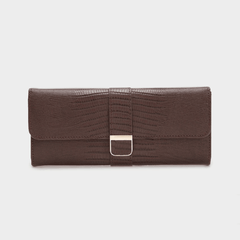 WOLF Palermo jewellery roll - Brown