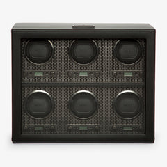 WOLF Axis 6 piece watch winder - Powder coat