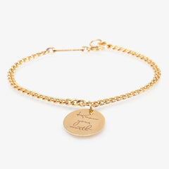 Zoe Chicco 14ct yellow gold 'Know your worth' curb chain bracelet