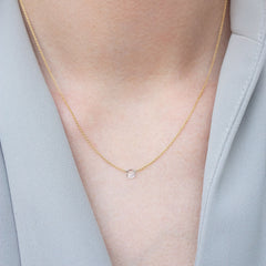 The Alkemistry 18ct yellow gold drilled rose cut diamond necklace
