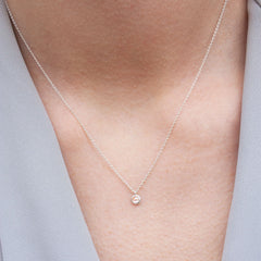The Alkemistry 18ct white gold and rose cut diamond necklace