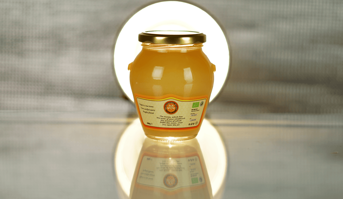 Organic Raw Linden Honey – 100% Natural – 12 Jars - The Honey Moony
