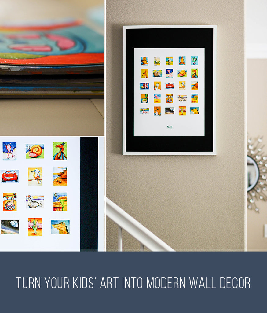 Kids Artwork as Kids wall decor