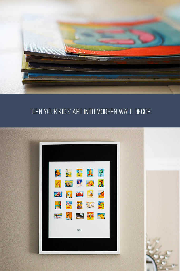 turn stacks of artwork into kids art display | ITSY ART