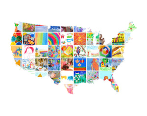 USA Map // Kids Art Display