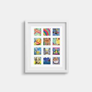 Art Sparkle // Kids Artwork Display